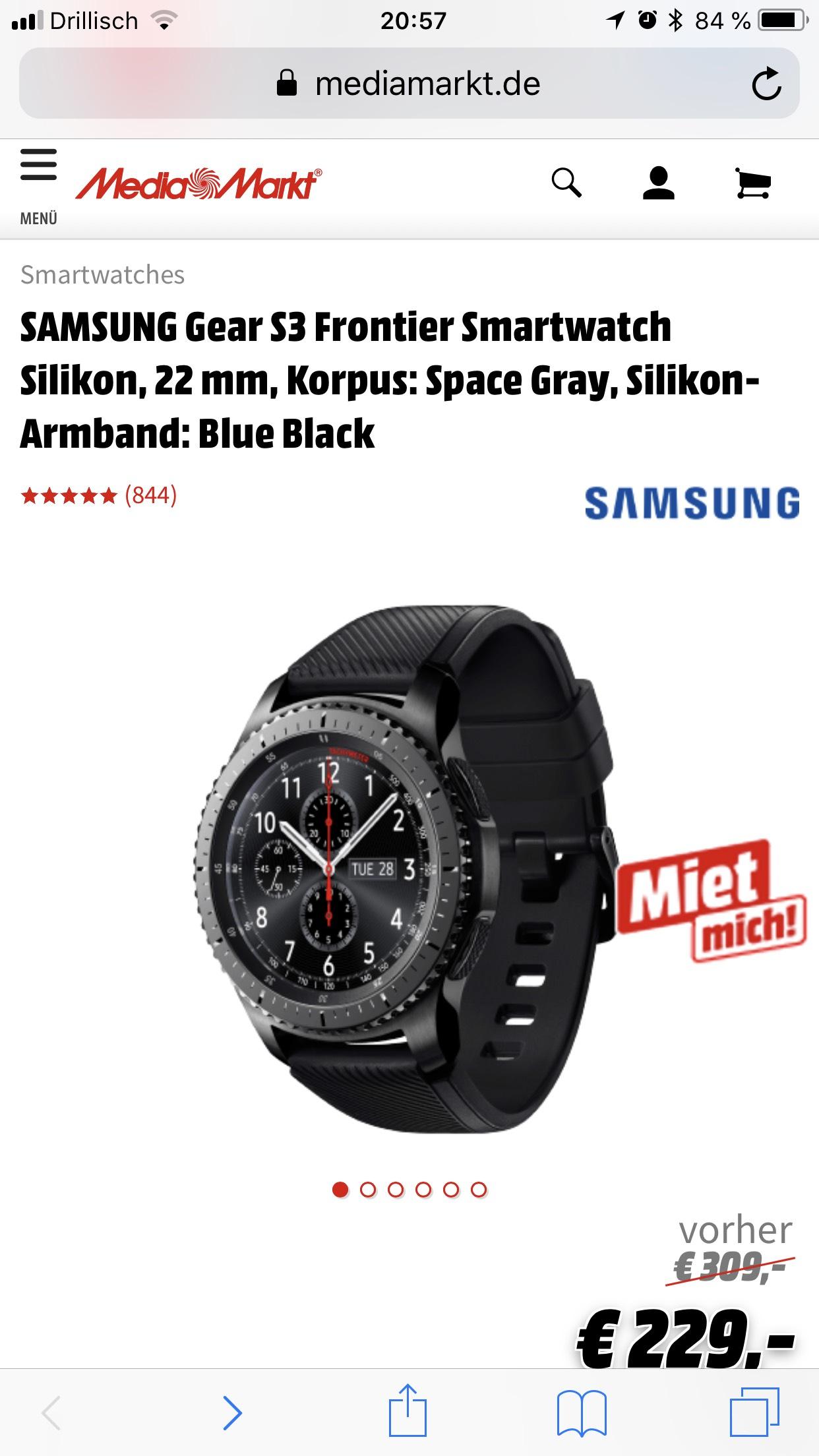 Mediamarkt Samsung gear s3 frontier oder classic