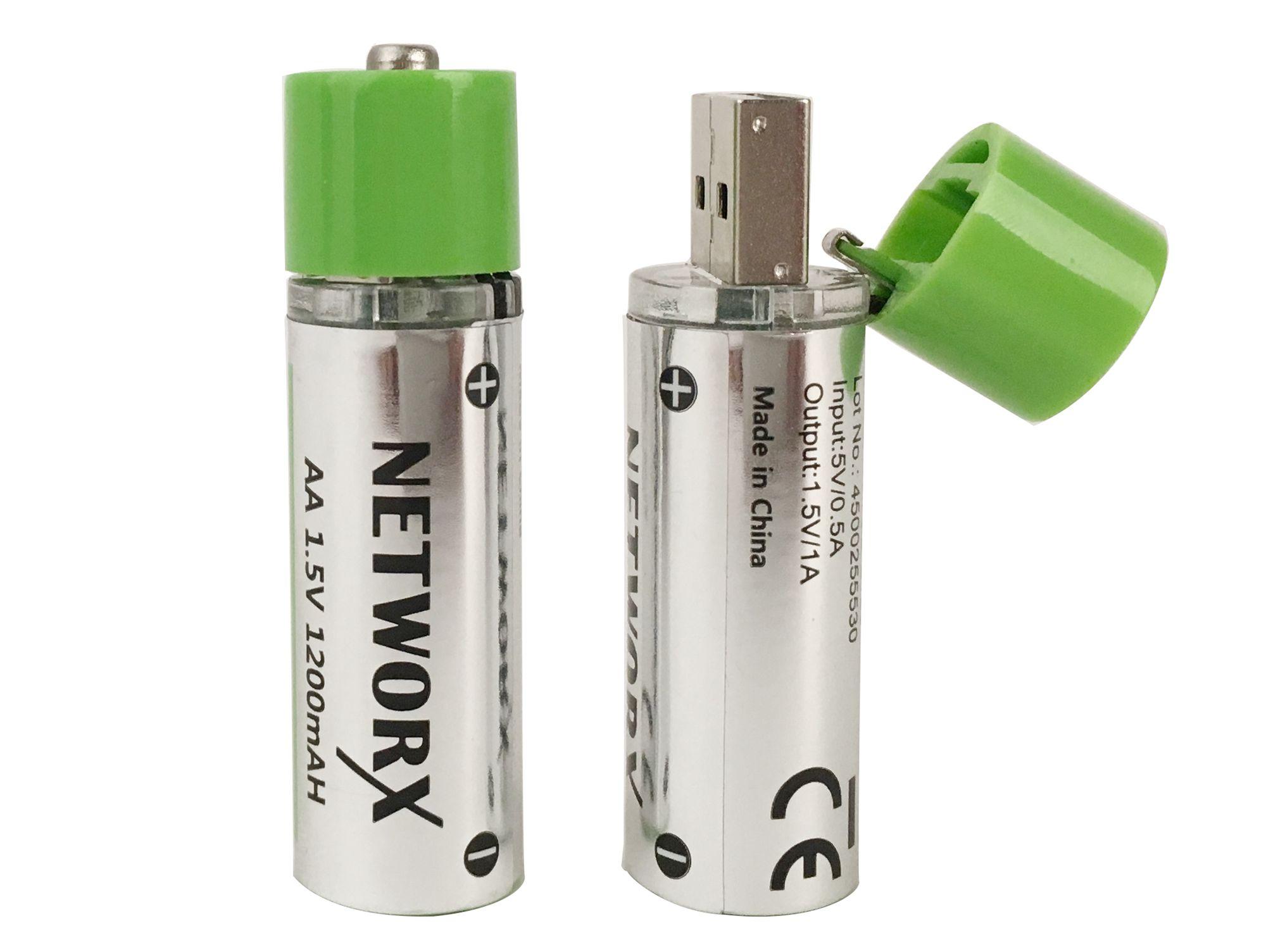 """2er Pack Networx USB-Batterie """"Abholung GRAVIS"""""""