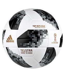 [engelhorn@eBay] Adidas Telstar World Cup Top 18 Replique Trainingsball WM 2018 weiss Größe 5