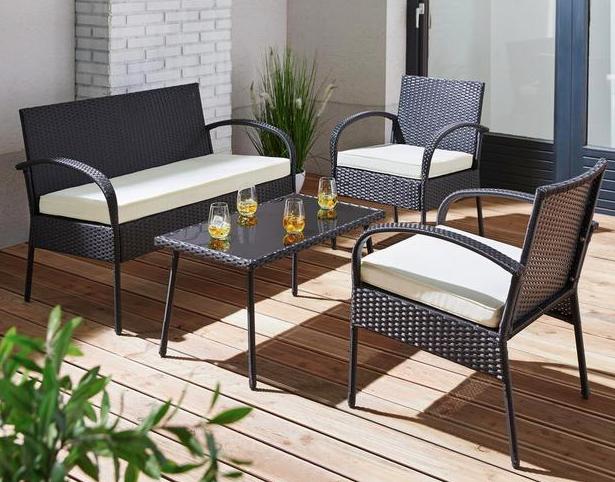 25% auf Gartenmöbel (nur online) [Mömax] z.B. Loungegarnitur für 74,25€