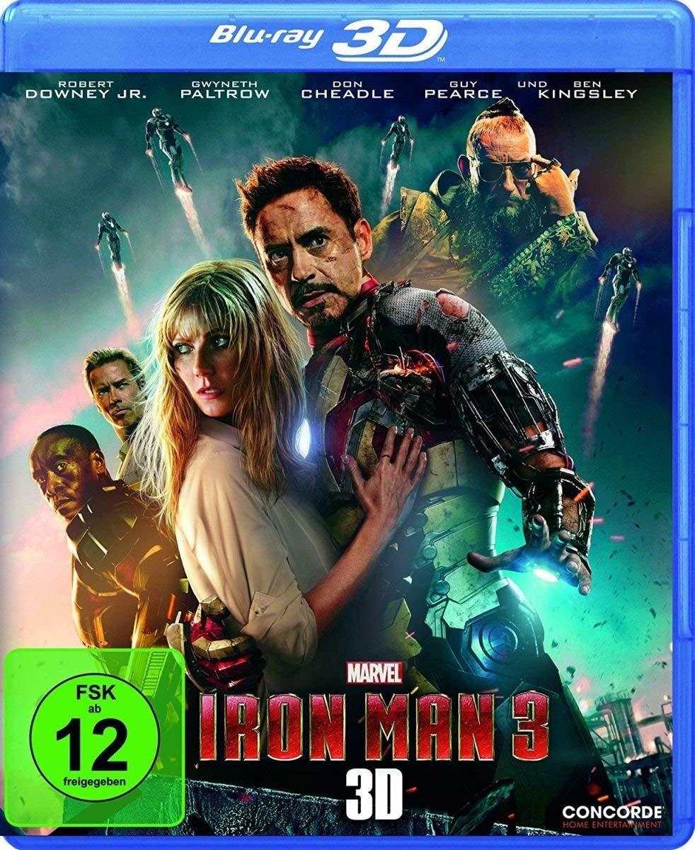Iron Man 3 3D (3D Blu-ray) für 6,27€ (Dodax)