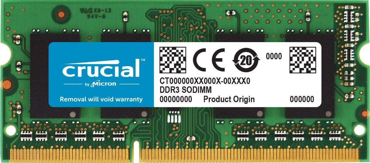 Crucial 16GB SODIMM DDR3-1866 für 102,27€ (Amazon.es)