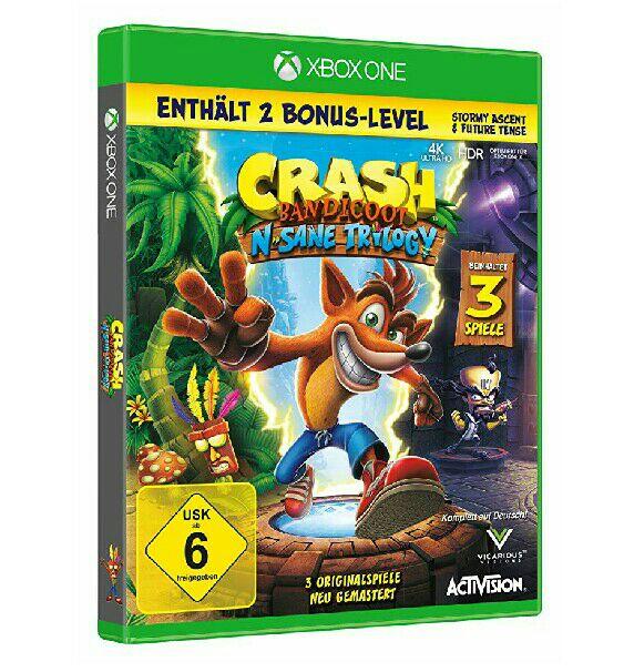 Crash Bandicoot - Nsane Trilogy Remaster/Remake inklusive 2x Bonuslevel für Nintendo Switch & Xbox One & PC (mit Amazon Prime für je 35€!)