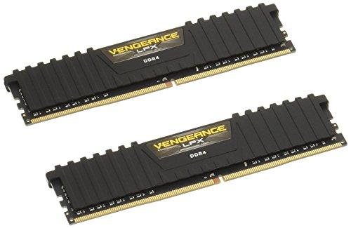 Arbeitsspeicher Corsair Vengeance LPX schwarz DIMM Kit 8GB (2x4GB), DDR4-2400, CL16-16-16-39 (CMK8GX4M2A2400C16)
