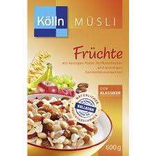 KÖLLN Müsli Früchte 500- 600g mit Coupon für 1,29 Euro [Globus / Wiesental, Hockenheim, Ludwigshafen...]