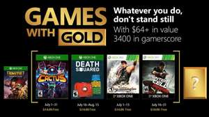 (Games with Gold Juli) Assault Android Cactus (Xbox One) Death Squared (Xbox One) Virtua Fighter 5 Final Showdown (Xbox One/Xbox 360) Splinter Cell:Conviction (Xbox One/Xbox 360)