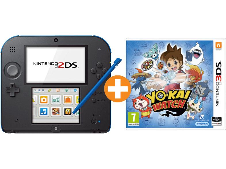 Nintendo 2DS Schwarz-Blau + Yo-Kai Watch für 75,99€ inkl. Versand nach DE (Saturn.at)
