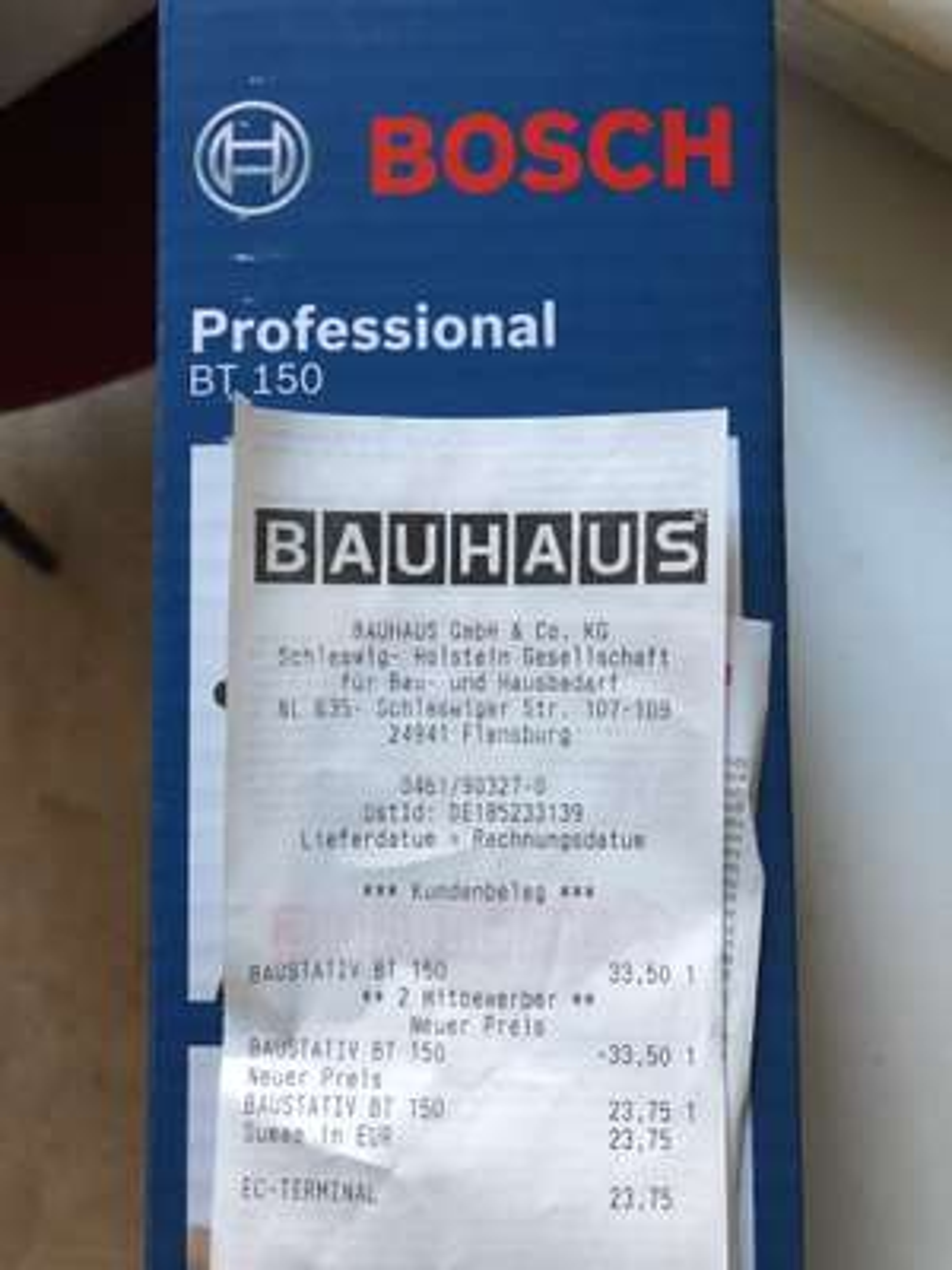Bauhaus: Baustativ Bosch Professional BT150 mit TPG