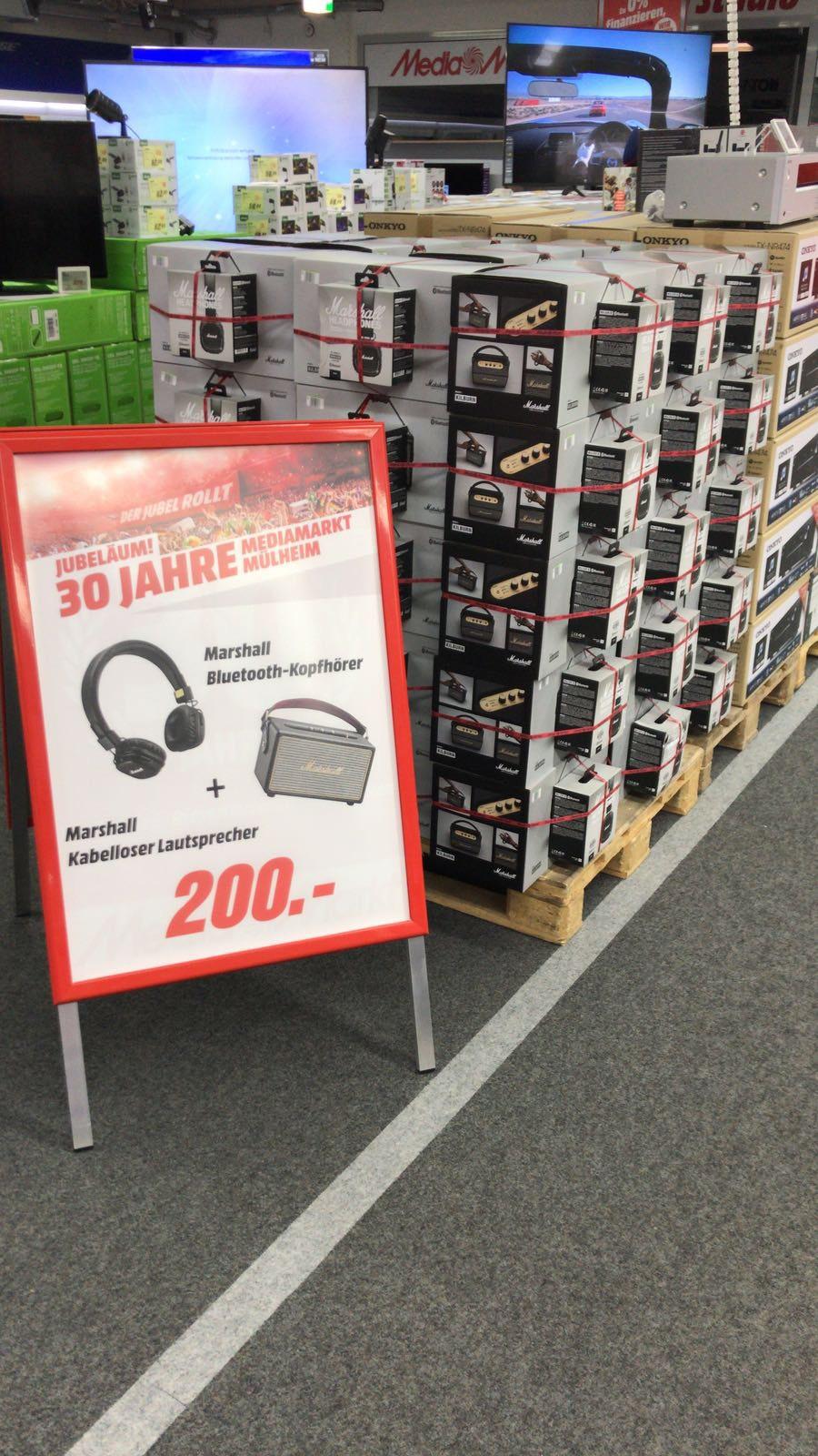 Marshall Kilburn Lautsprecher + Major 2 Bluetooth Kopfhörer Media Markt Mülheim