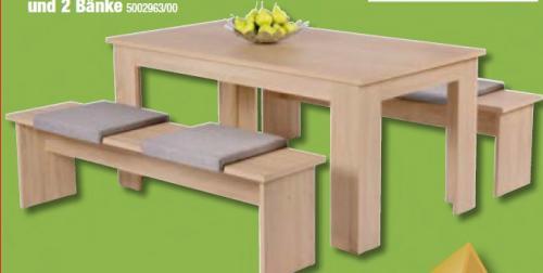 Tischgruppe (Tisch (1,40m) mit 2 Bänken) - Poco Domäne
