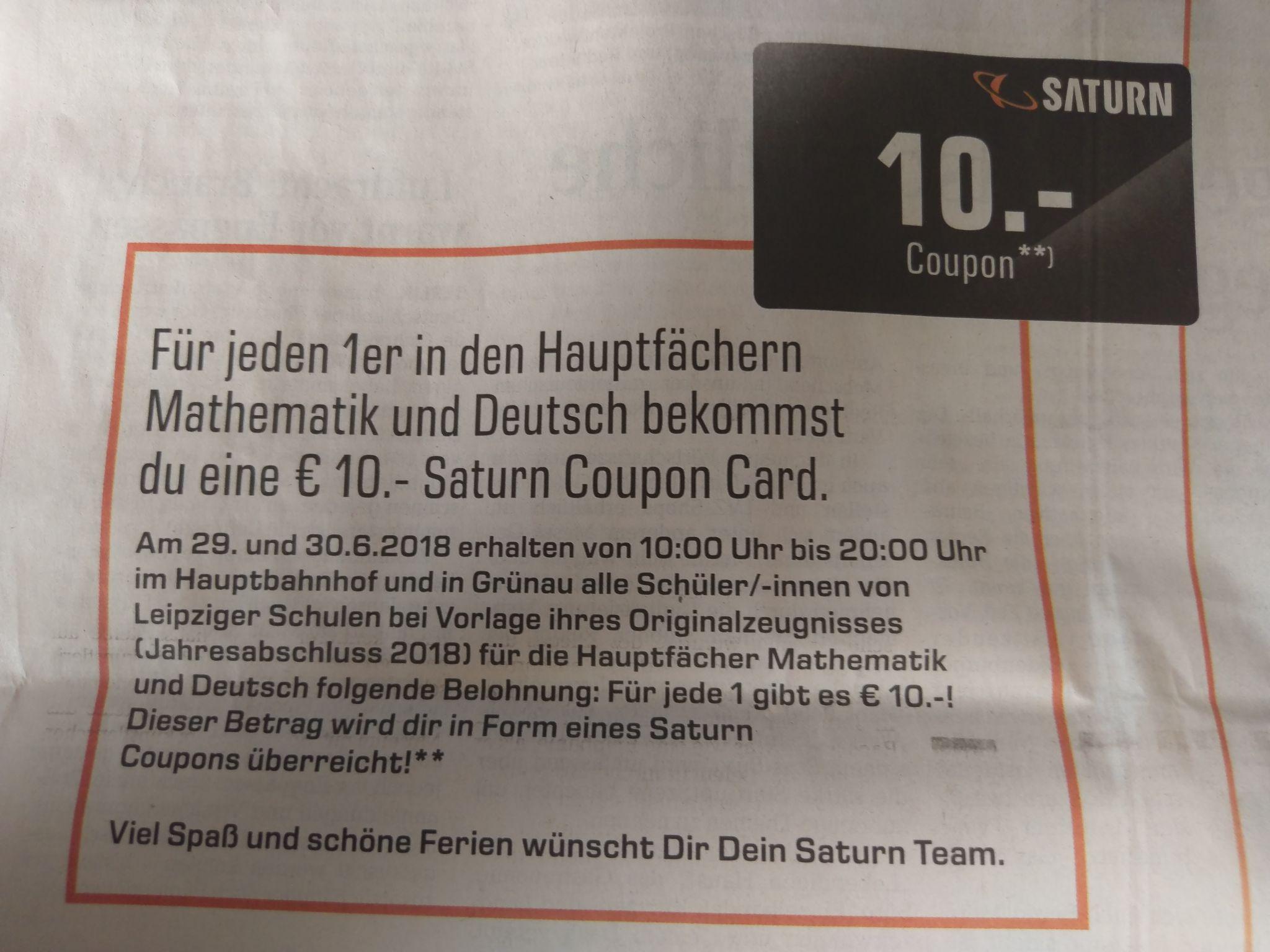 [Lokal Leipzig] 10 Euro Gutschein bei 1 in Mathe / Deutsch