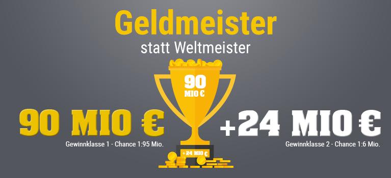 [GMX.net / Web.de / Lotto24] 2 x Eurojackpot 2 Felder für den Preis von 1 (55 % Rabatt)