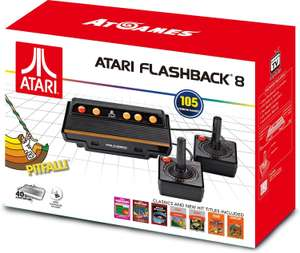 Atari Flashback 8 Retro Spielekonsole 105 Spiele + 2 Joysticks für 41,88€ (Amazon FR)
