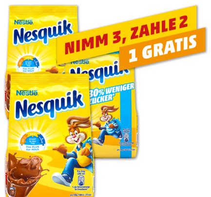 NESTLÉ Nesquik - 3 x 500-g-Beutel - für 3,18 € ( = 1,06 € pro Beutel ) @ Kaufland ab 12.07.