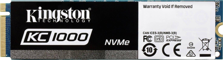 Kingston SSDNow KC1000 480GB NVMe M.2 für 113,01€ (Amazon.es)