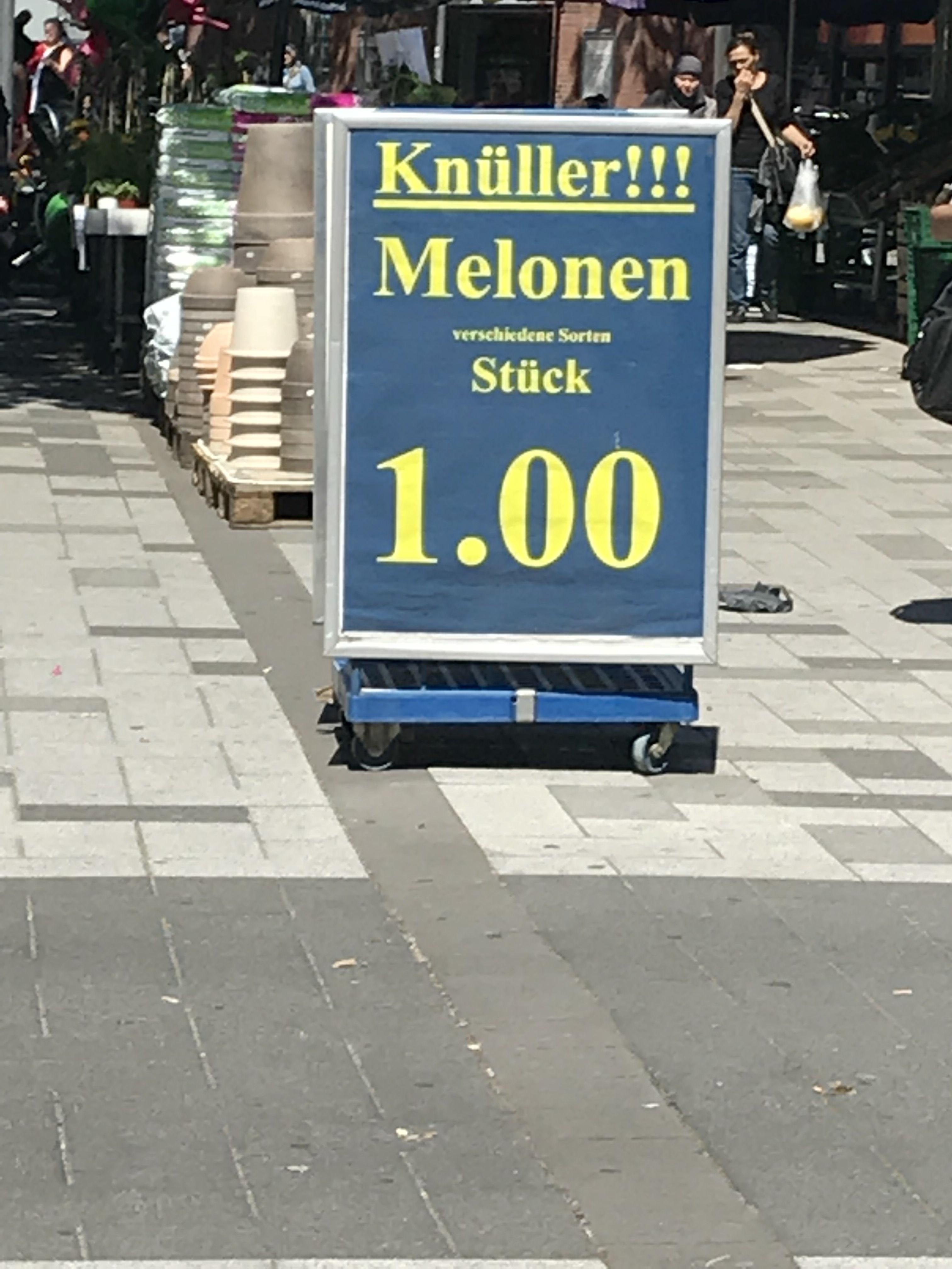 Melonen Verschieden Sorten Lokal Hamburg Edeka Langenhorn Markt
