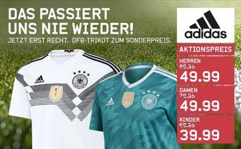 Karstadt Sport, DFB Trikot Kinder 39,99 € Damen & Herren 49,99 € Heim und Auswärts