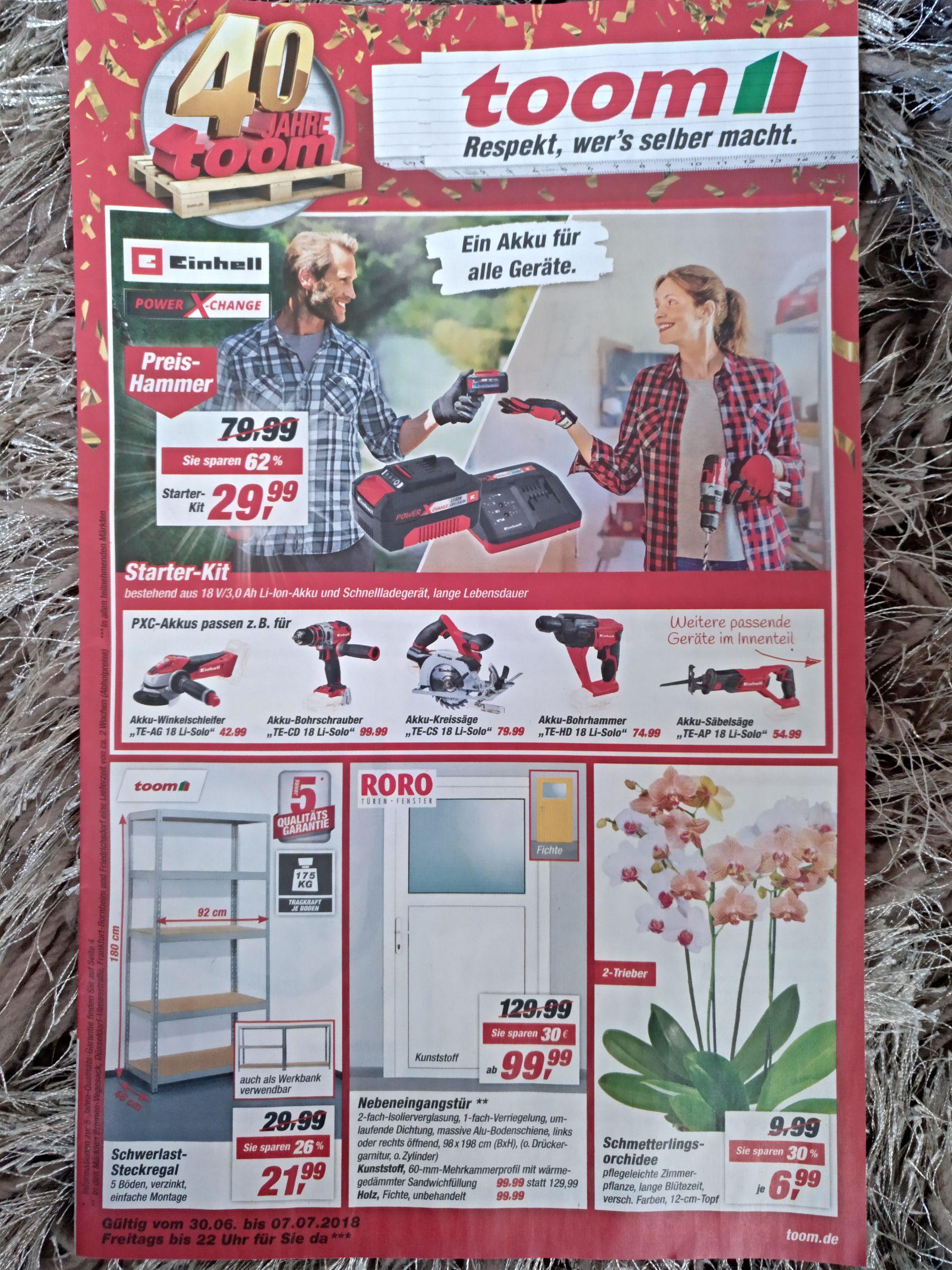 toom Baumarkt bundesweit - Einhell Starter-Kit Power X-Change 3Ah