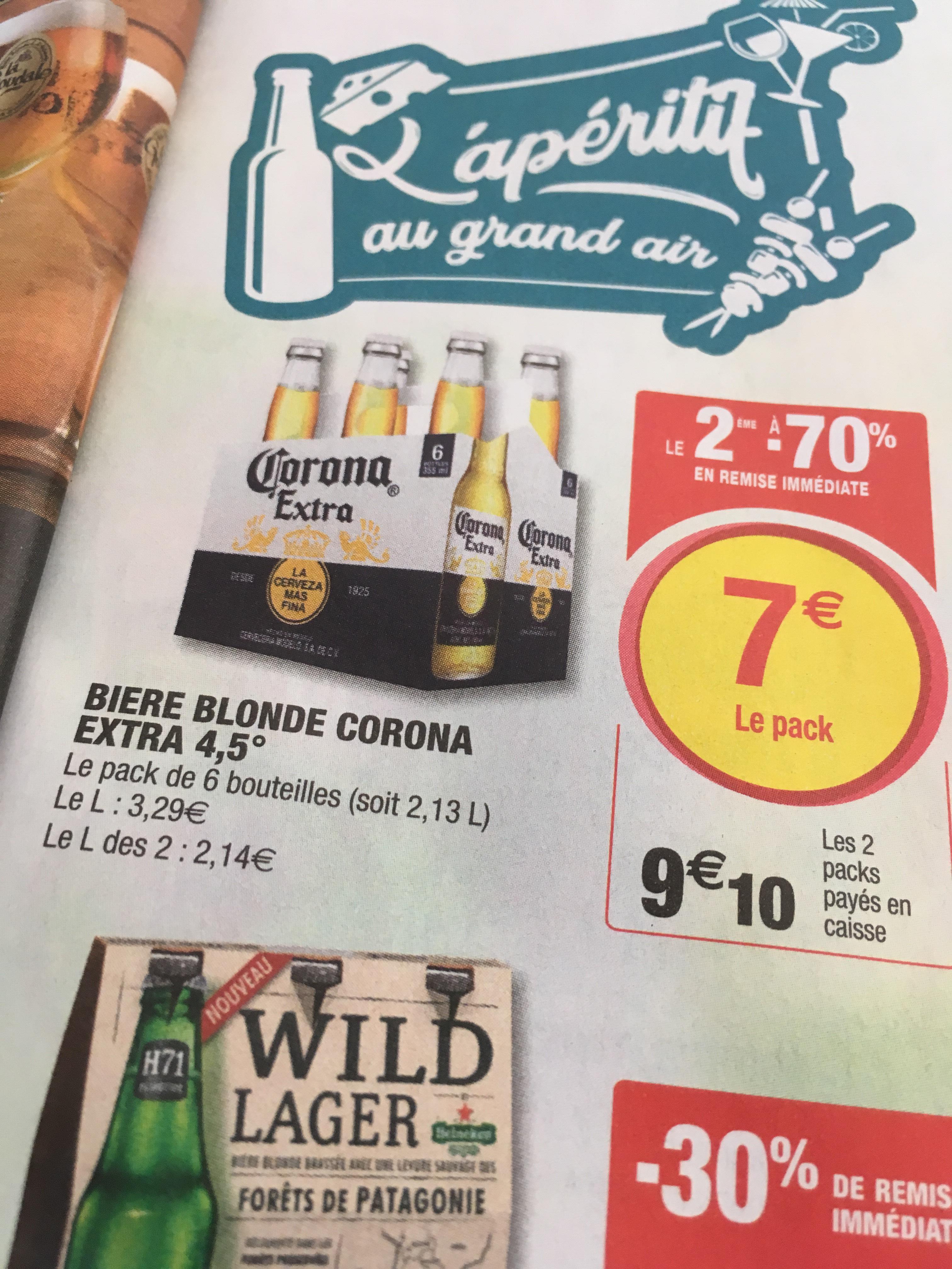 2 Six Pack Corona 9,10Euro Grenzgänger Frankreich