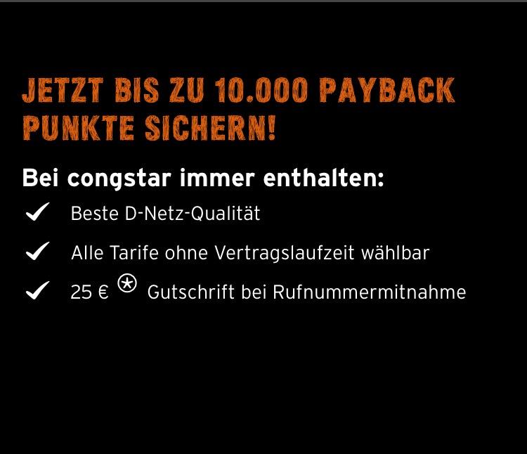 10.000 Payback Punkte für monatlich kündbare Congstar Allnet Flat