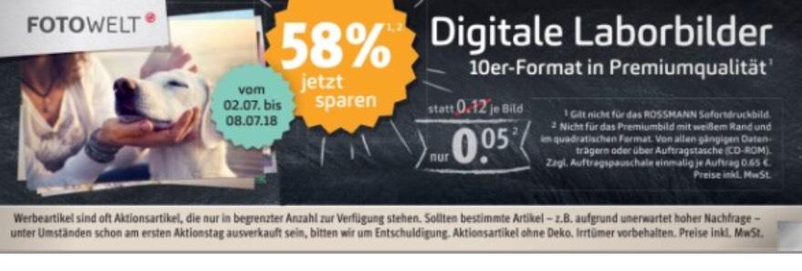 Rossmann - Foto für je 0,05€ - mit 10% Coupon kombinierbar