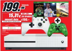 [Regional Mediamarkt Mülheim] Xbox One S 1TB + Sea of Thieves + FIFA 18 + Forza Horizon 2 + Minecraft Controller für 199,-€