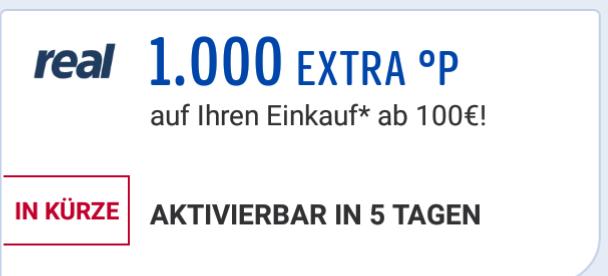 1000 Payback Punkte bei Einkauf ab 100€ am 05.07. + 06.07. [Payback.de] bei [Real]