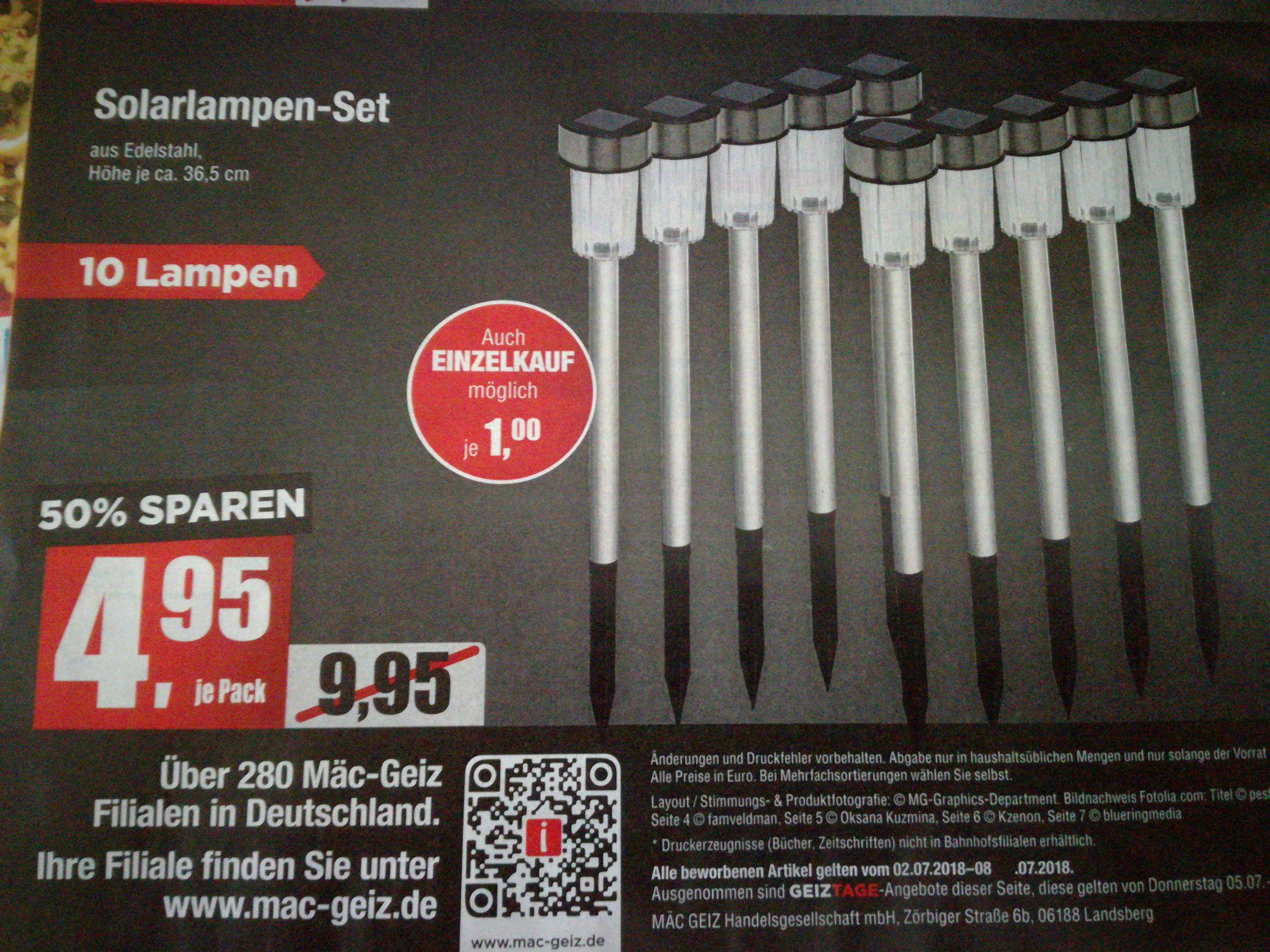 (MäcGeiz Berlin) Solarlampen-Set 10 Stück
