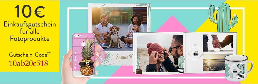 10 Euro Pixelnet Gutschein - 30 Euro MBW - 2x100 Seiten Fotobuch für 23,95€