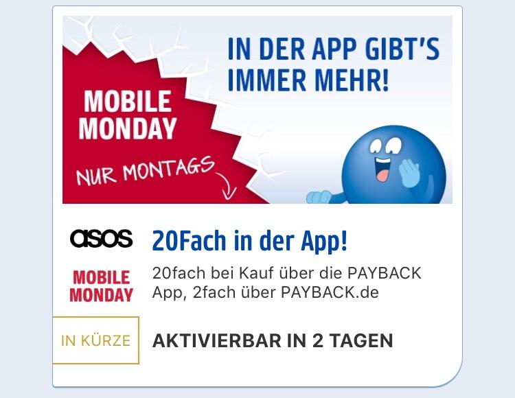 Mobile Monday 20fach bei asos