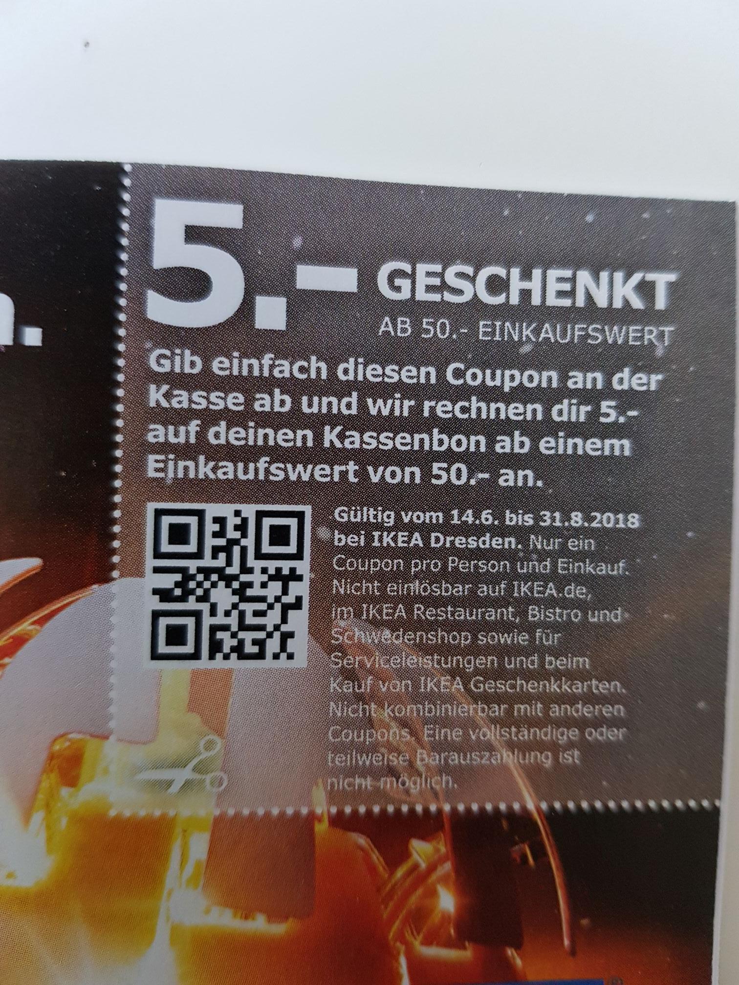 5€ Gutschein für IKEA Dresden