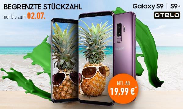Samsung Galaxy S9 (64GB) mit 2 Jahresvertrag bei deinhandy.de für 19,99€ p.M. und 79€ Einmalzahlung fürs Handy