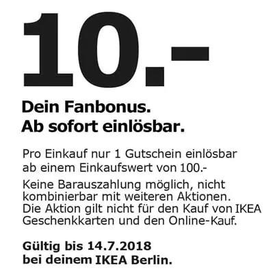 [IKEA Berlin] 10€ Gutschein ab 100€ Einkaufswert