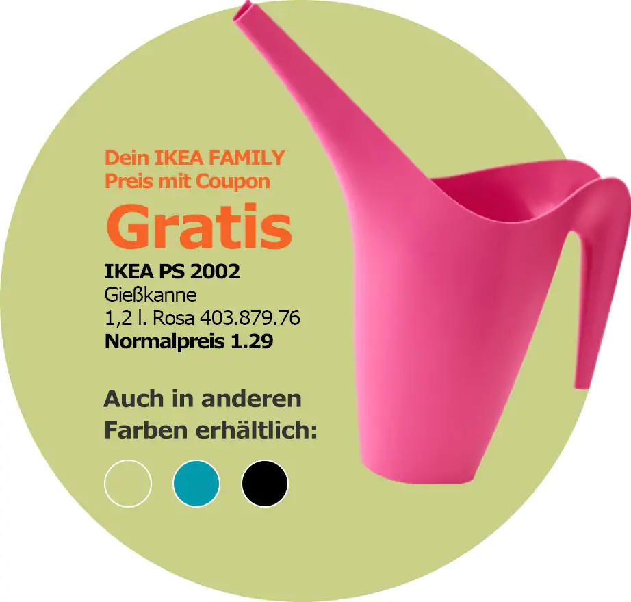 [IKEA FAMILY Hamburg] IKEA PS 2002 Gießkanne gratis