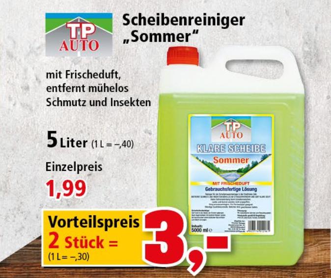 Sommer-Scheibenreiniger 10 Liter für nur 3,00€ [Thomas Philipps]