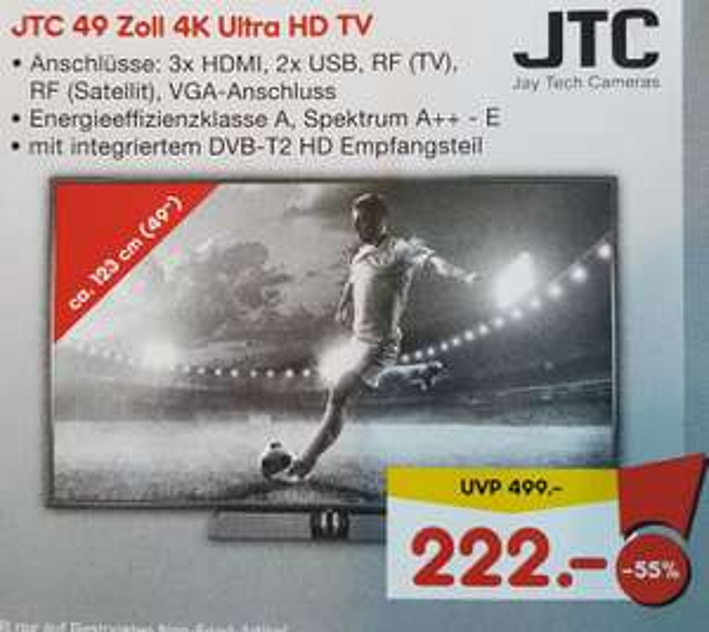 [Lokal Tübingen/Netto] JTC 4K Ultra HD TV