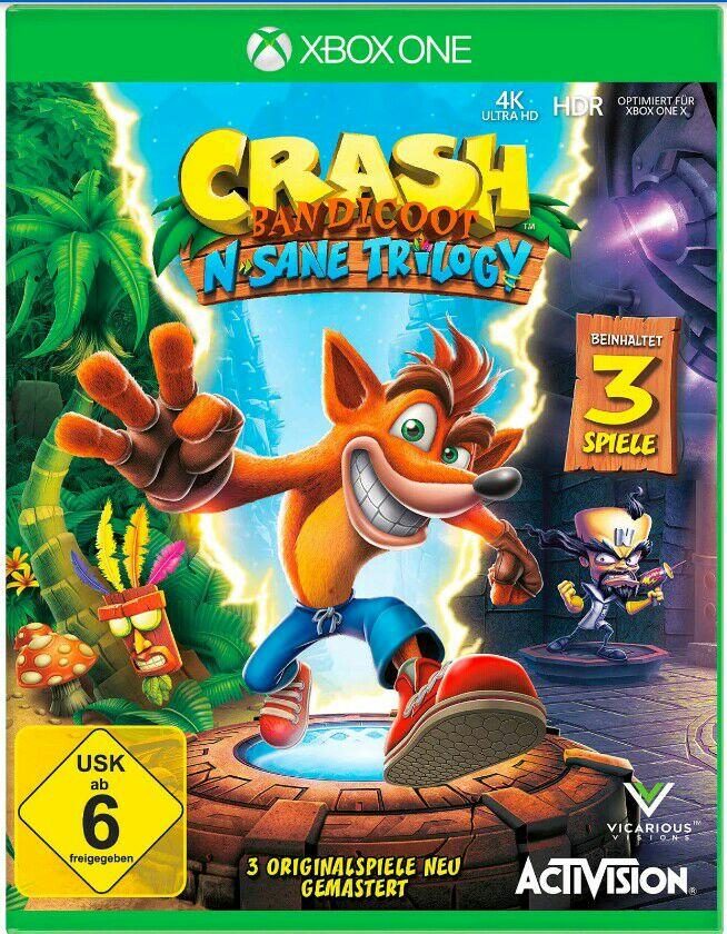 Crash Bandicoot - Nsane Trilogy Remake/Remaster inkl. 2 Bonuslevel für die Xbox One & Nintendo Switch (Preissenkung bei Amazon)