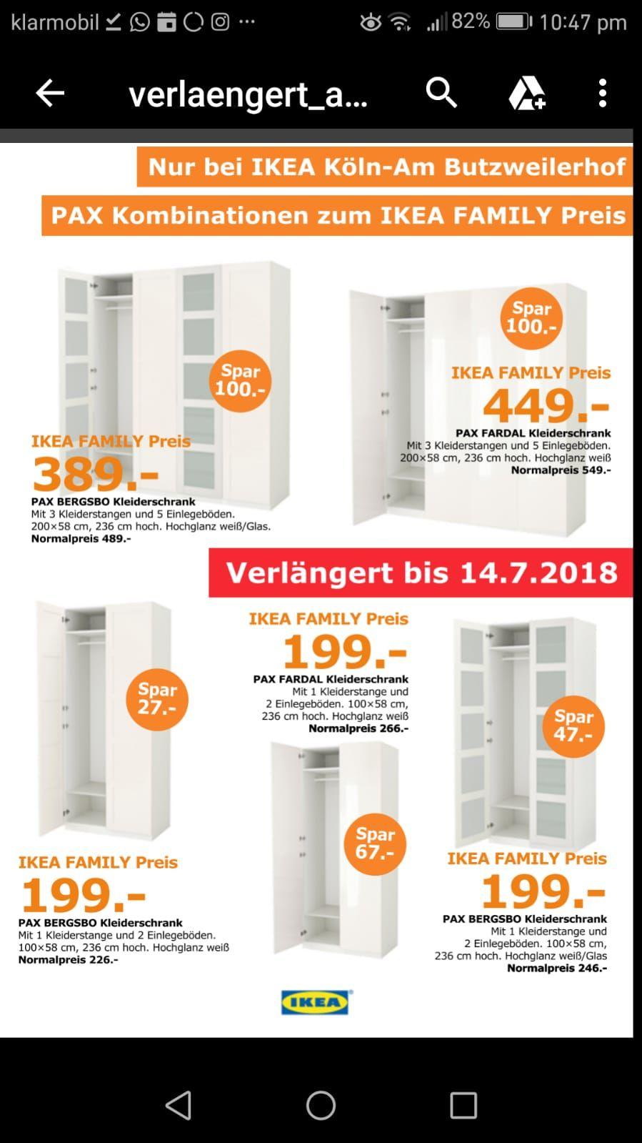 [Lokal Köln Butzweilerhof] IKEA PAX Family Angebote