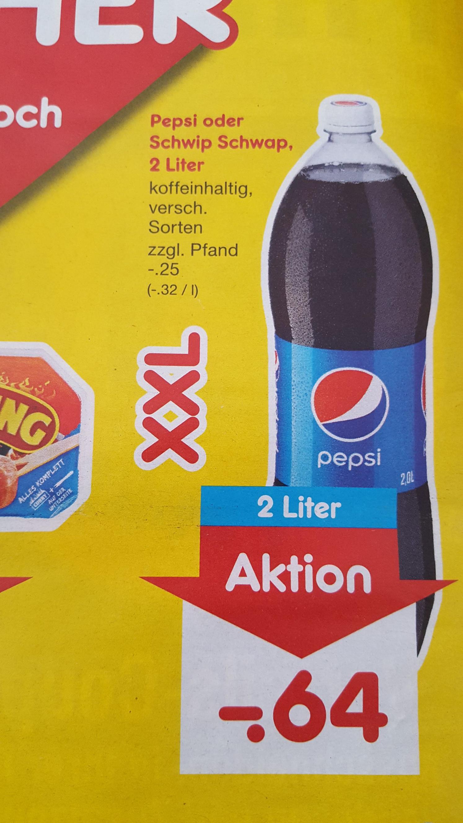 [Netto] Pepsi und Schwip Schwap 2L - nur am 07.07.18