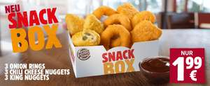 Burger King: Snack Box 3 Onion Rings - 3 Chili Cheese Nuggets - 3 King Nuggets + Dip