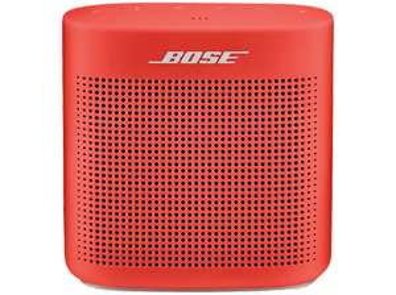 BOSE SOUNDLINK COLOR II Bluetooth Lautsprecher, Rot für 77€ bei Media Markt