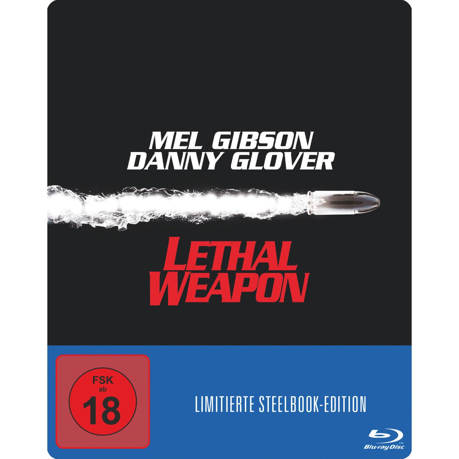 Lethal Weapon 1 Zwei stahlharte Profis Steelbook (Blu-ray) & Lethal Weapon 3 Die Profis sind zurück Steelbook (Blu-ray) & Lethal Weapon 4 Zwei Profis räumen auf Steelbook (Blu-ray) für je 6€ versandkostenfrei (Media Markt)