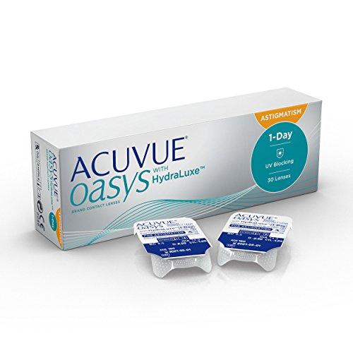 [AMAZON PLUS PRODUKT] Acuvue Oasys 1-Day for Astigmatism Tageslinsen weich, 30 Stück (einige Ausführungen)