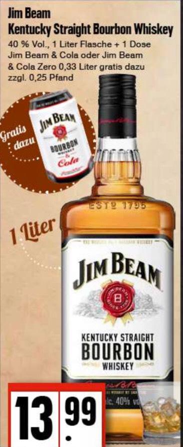 [Lokal] Edeka Nord: Jim Beam 1 Liter + Gratis Dose Jim Beam & Cola