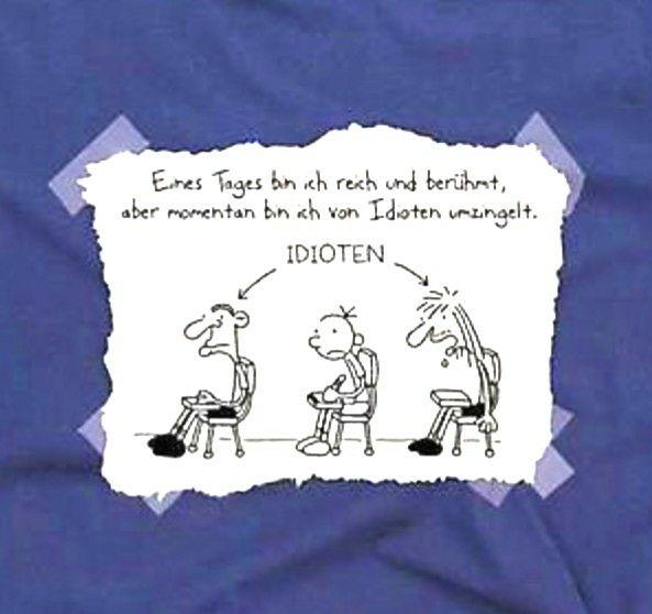 Nur 99 Cent (plus Versand): T-Shirt Gr.122-128 - Gregs Tagebuch - Von Idioten umzingelt - bei terrashop.de