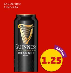 [Penny] Guinness 0,44l und 4er Pack Captain Morgan+Cola für 1,25€ pro Dose