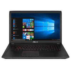 "Asus FX753VE-GC218: 17,3"" FHD matt, i7-7700HQ, GeForce® GTX 1050 Ti 4GB, 8GB RAM, 1TB HDD, Wlan ac, HDMI, mini Display-Port, beleuchtete Tastatur für 666€ (NBB)"