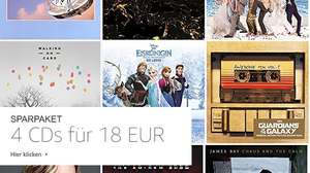 amazon - 4 CDs für 18 EUR > Vom 29 Jun. 2018 bis 12 Jul. 2018