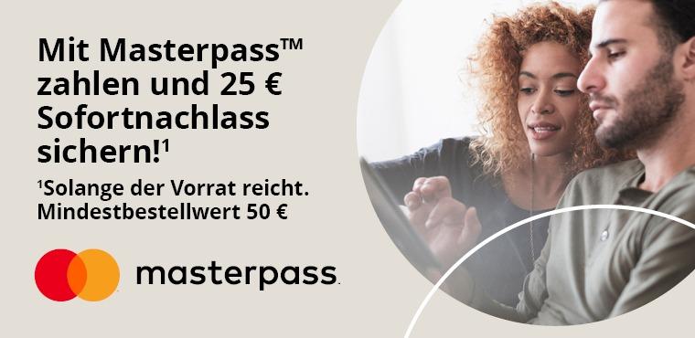 25€ Rabatt bei 50€ MBW mit MasterPass [Technikdirekt]