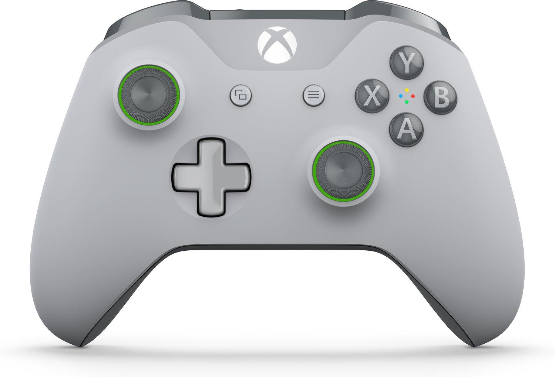 Xbox One S Controller grau / grün und rot mit Masterpass